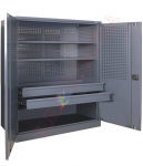 Dulap scule cu 2 rafturi 2 sertare (1000x500x1000mm)